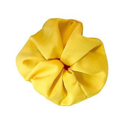 Elástico- Scrunchie de Cetim Amarelo