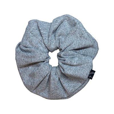 Elástico - Scrunchie de Malha Cinza