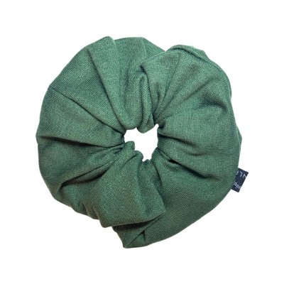 Elástico - Scrunchie de Crepe Verde Musgo