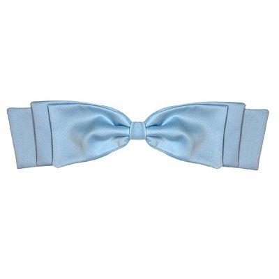 Fivela de Laço Camadas de Cetim Azul Piscina