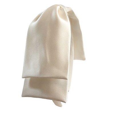 Tiara Maxi Laço Camadas Cetim Of-White