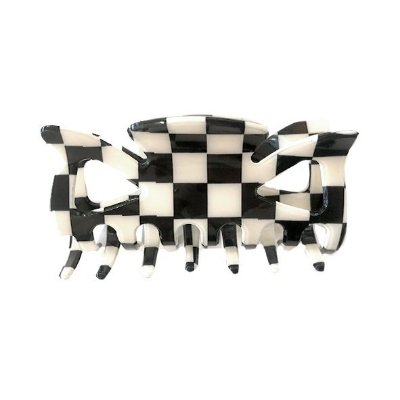 Presilha de Cabelo Basic Xadrez Preto e Branco