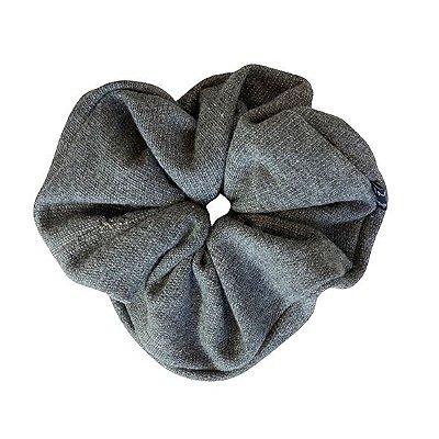 Elástico - Scrunchie de Malha Cinza Escuro