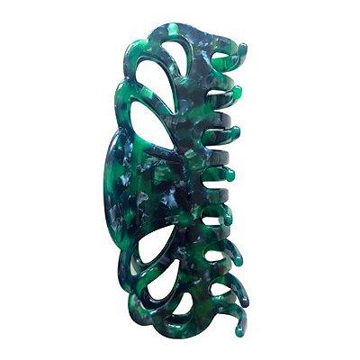 Presilha de Cabelo Curvas Verde Tartaruga