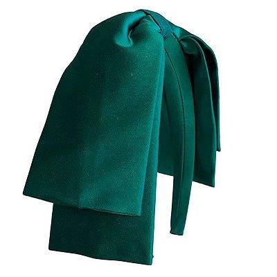 Tiara Maxi Laço Camadas Verde Esmeralda