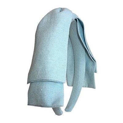 Tiara Maxi Laço Camadas Azul Piscina