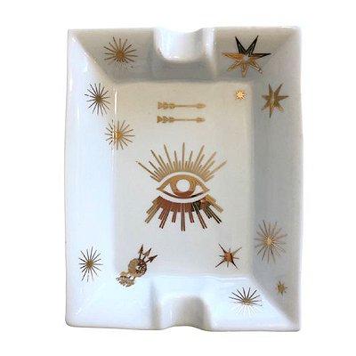 Maxi Cinzeiro Olho Ouro Velho