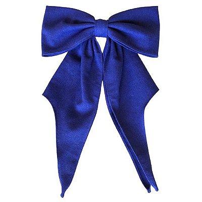Fivela de Laço Quatro Pontas Linho Azul Royal