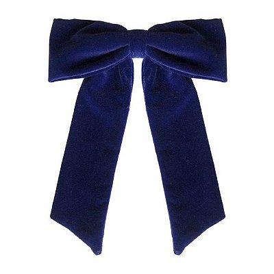 Fivela Maxi Laço de Veludo Azul Marinho