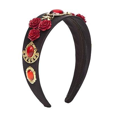 Tiara Red Flower Vintage Style