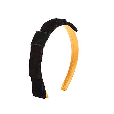 Tiara Velvet Knot Amarela e Preta