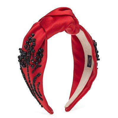 Turbante de Cetim Vermelho