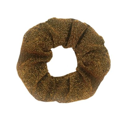 Scrunchie Pinli de Lamê Dourado