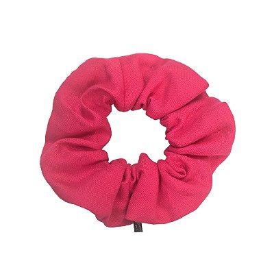 Scrunchie - Elástico de Linho Pink