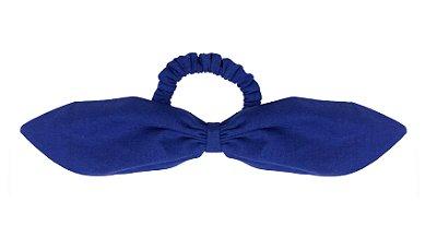 Elástico de Laço Fino de Linho Azul Klein