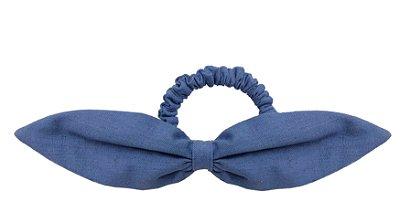 Elástico de Laço Fino de Linho Azul