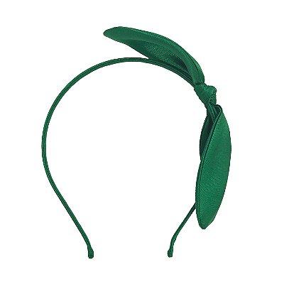 Tiara de Laço Arame Verde Grama