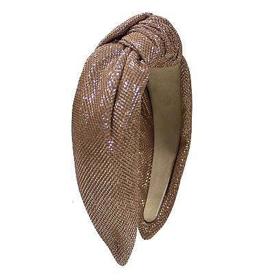 Turbante de Lurex de Brilho Rosa Fendi