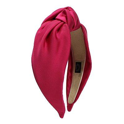 Turbante de Cetim Liso Pink
