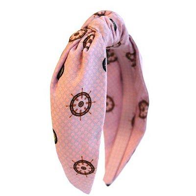Turbante Infantil- Rosa Claro Estampado