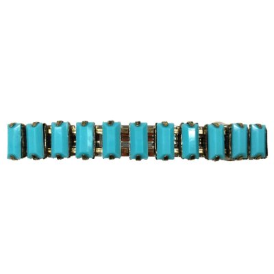 Fivela com Pedrarias Cor Azul Turquesa