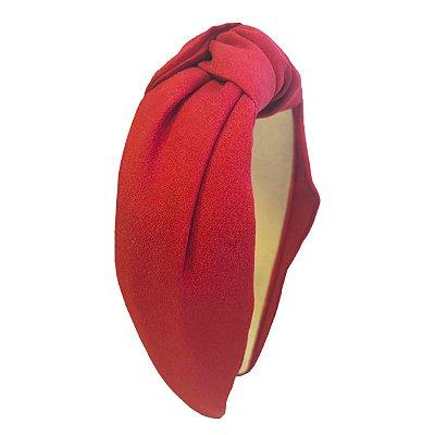 Turbante de Crepe Vermelho
