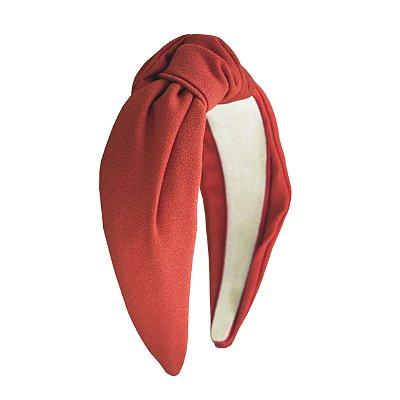 Turbante de Crepe Laranja  Terracota