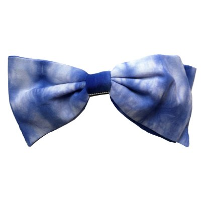 Fivela com Laço Ponta de Estampa Tie Dye Azul