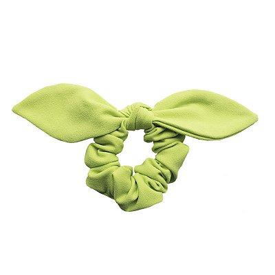 Elástico com Mini Laço de Crepe Verde Neon