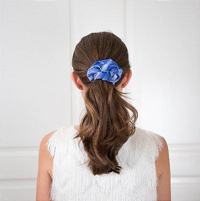 Elástico - Scrunchie Estampa Tie Dye Azul