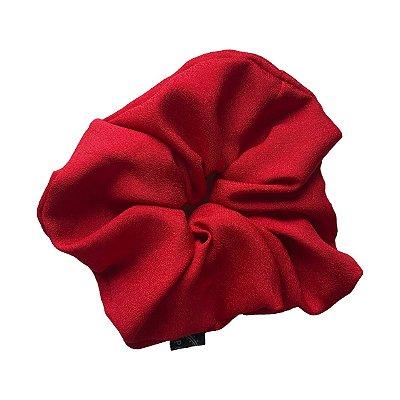 Elástico - Scrunchie de Crepe Vermelho