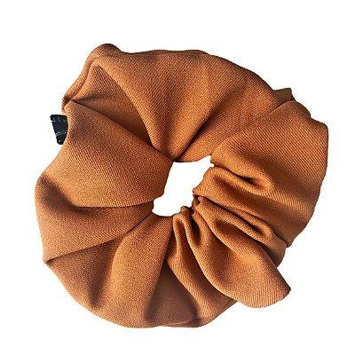 Elástico - Scrunchie de Crepe Bege