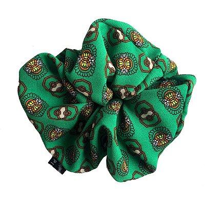 Elástico - Scrunchie Estampado Verde