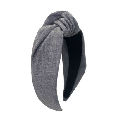 Turbante de Lã Cinza Claro