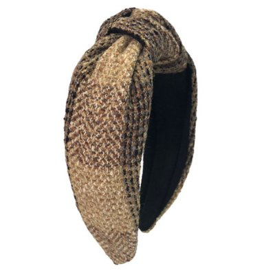 Turbante de Lã Tweed Xadrez