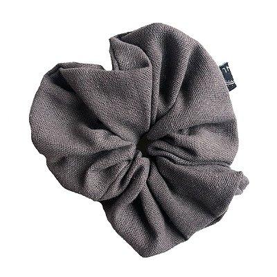 Scrunchie - Elástico de Linho Cinza