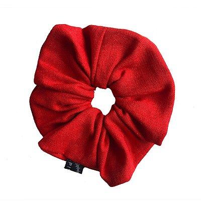Scrunchie - Elástico de Linho Vermelho