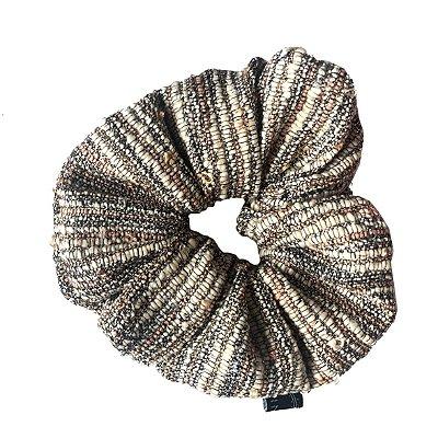 Scrunchie - Elástico Texturizado em Tons de Bege