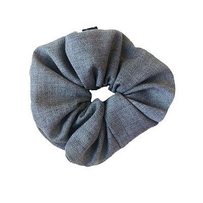 Scrunchie - Elástico de Lã Cinza
