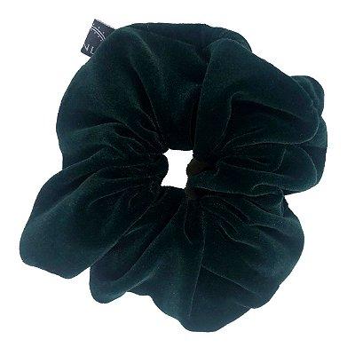 Elástico - Scrunchie de Veludo Verde Escuro