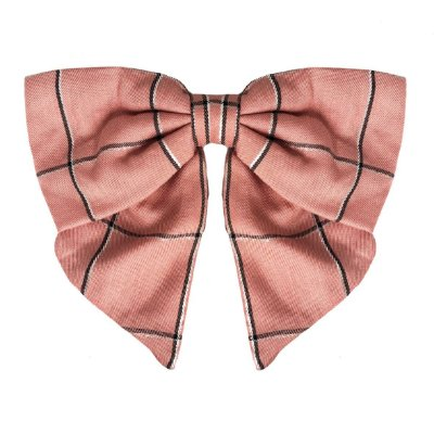 Fivela de Laço V Xadrez rosa Queimado