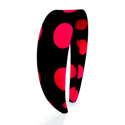Tiara Flat Circles Vermelho e Marinho