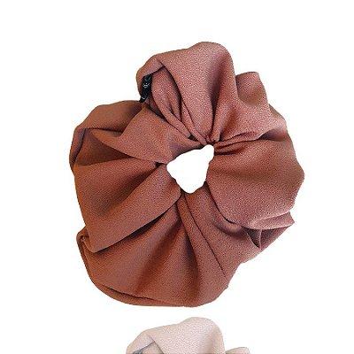 Elástico - Scrunchie de Crepe Rosa Nude