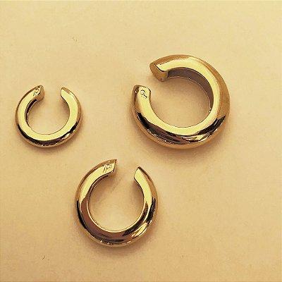 Piercing Round Liso Dourado P (Unitário)
