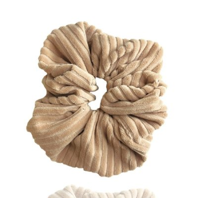 Elástico - Scrunchie Veludo Cotelê Nude