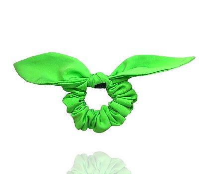 Elástico com Mini Laço Neon Verde