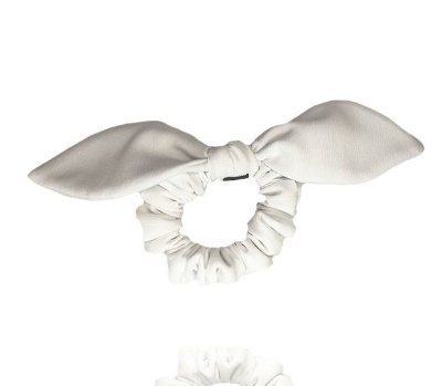 Elástico com Mini Laço de Crepe Branco