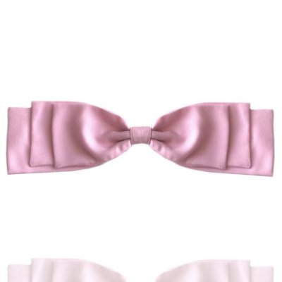 Fivela de Laço Camadas Rosa Light