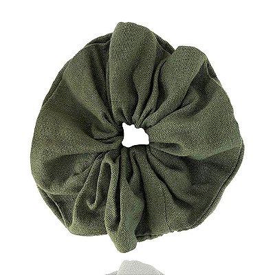 Scrunchie - Elástico de Linho Verde