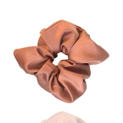 Elástico- Scrunchie de Cetim Rosé Queimado